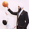 5-Year-Old Sikh-Canadian Starts Basketball-Court Cuddle In Viral Video